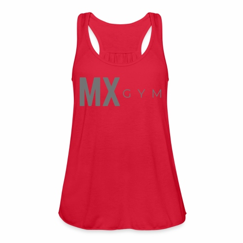 MX Gym Minimal Long Grey - Women's Flowy Tank Top by Bella