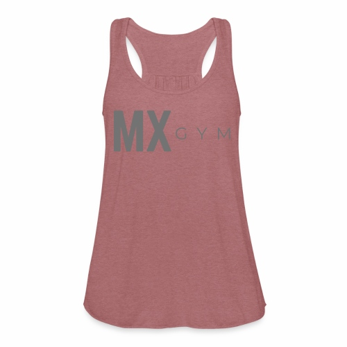 MX Gym Minimal Long Grey - Women's Flowy Tank Top by Bella