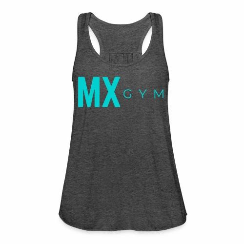 MX Gym Minimal Long Teal - Women's Flowy Tank Top by Bella