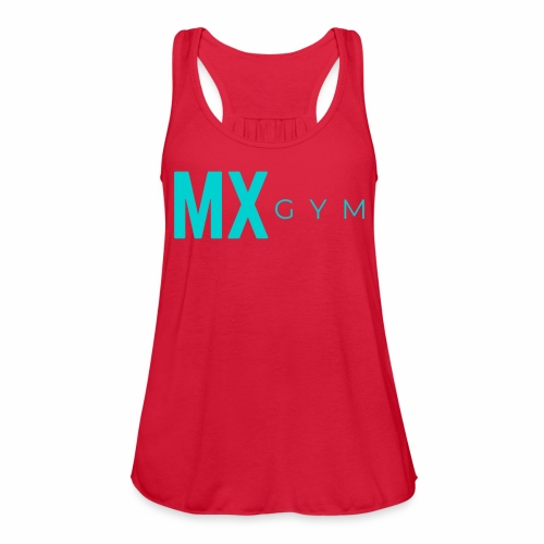 MX Gym Minimal Long Teal - Women's Flowy Tank Top by Bella