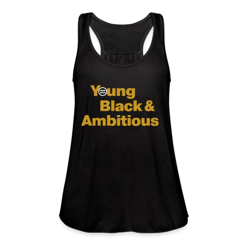 YBA Black and Gold Shirt2 - Women's Flowy Tank Top by Bella