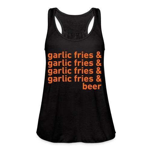 Garlic Fries & Beer (SF Giants) - Women's Flowy Tank Top by Bella