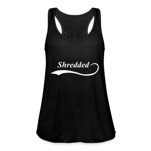 Mens Shredded Crewneck Sweatshirt - Women's Flowy Tank Top by Bella