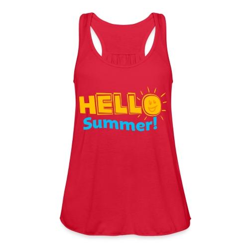 Kreative In Kinder Hello Summer! - Women's Flowy Tank Top by Bella