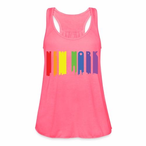 New York design Rainbow - Women's Flowy Tank Top by Bella