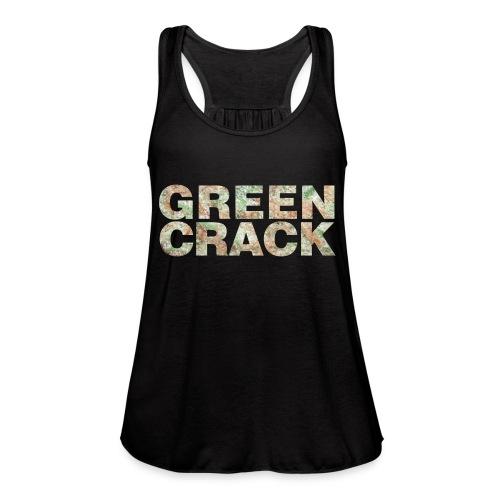 GREEN CRACK.png - Women's Flowy Tank Top by Bella