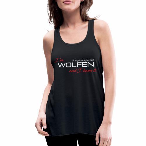Wolfen Atitude on Dark - Women's Flowy Tank Top by Bella