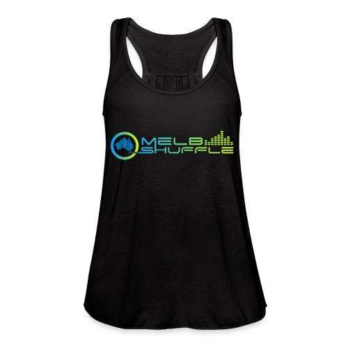 Melbshuffle Gradient Logo - Women's Flowy Tank Top by Bella