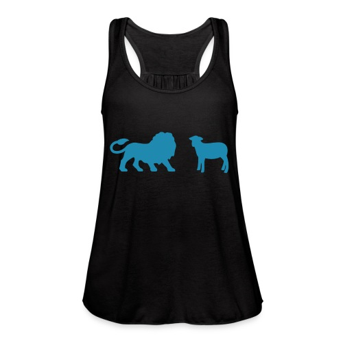 Lion and the Lamb - Women's Flowy Tank Top by Bella