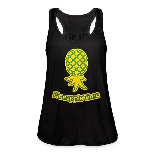 Swingers - Pineapple Time - Transparent Background - Women's Flowy Tank Top by Bella
