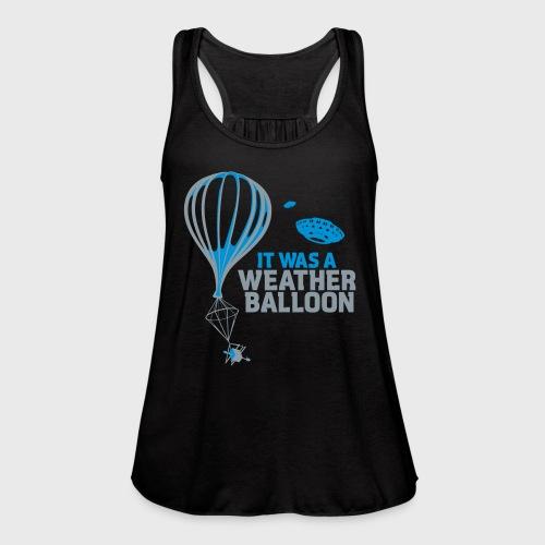 Weather Balloon UFO - Women's Flowy Tank Top by Bella