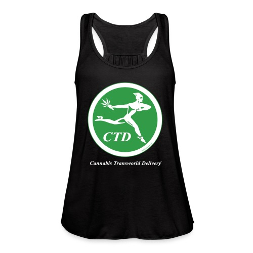 Cannabis Transworld Delivery - Green-White - Women's Flowy Tank Top by Bella