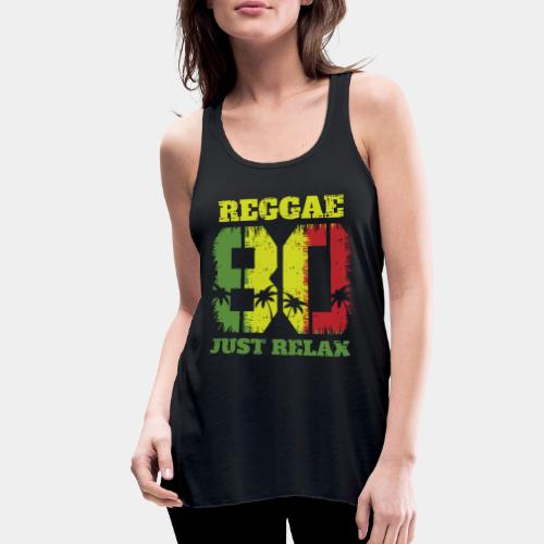 reggae music relax - Women's Flowy Tank Top by Bella
