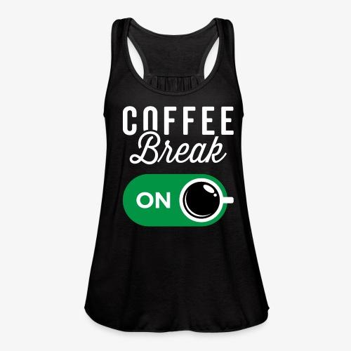 Coffee Break On - Women's Flowy Tank Top by Bella