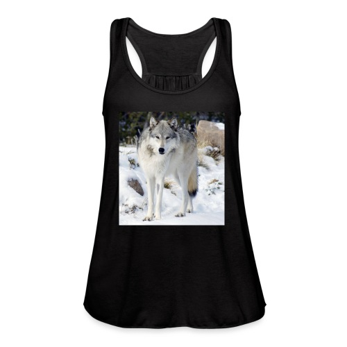 Canis lupus occidentalis - Women's Flowy Tank Top by Bella
