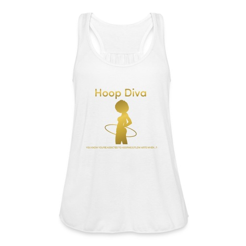 Hoop Diva - Gold - Women's Flowy Tank Top by Bella