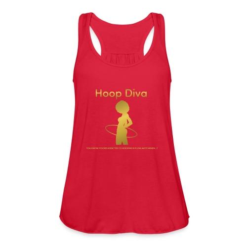Hoop Diva - Gold - Women's Flowy Tank Top by Bella