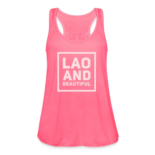 LAO AND BEAUTIFUL pink - Women's Flowy Tank Top by Bella