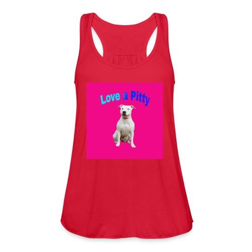 Pink Pit Bull - Women's Flowy Tank Top by Bella