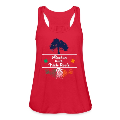 ALASKAN WITH IRISH ROOTS - Women's Flowy Tank Top by Bella