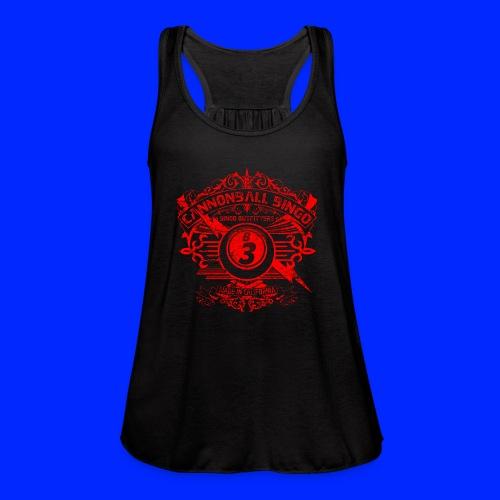 Vintage Cannonball Bingo Crest Red - Women's Flowy Tank Top by Bella
