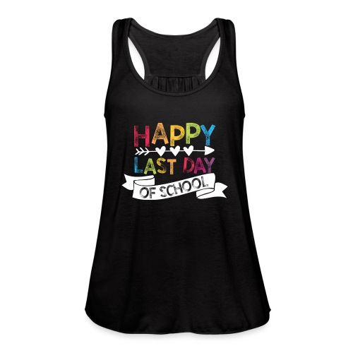 Happy Last Day of School Stamps Teacher T-Shirts - Women's Flowy Tank Top by Bella