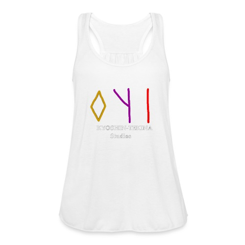 Kyoshin-Tekina Studios logo (white text) - Women's Flowy Tank Top by Bella