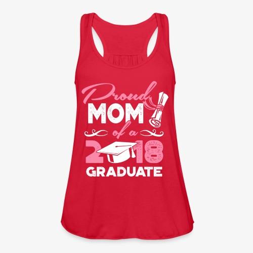 Proud Mom Graduate Mother Gift Shirt - Women's Flowy Tank Top by Bella