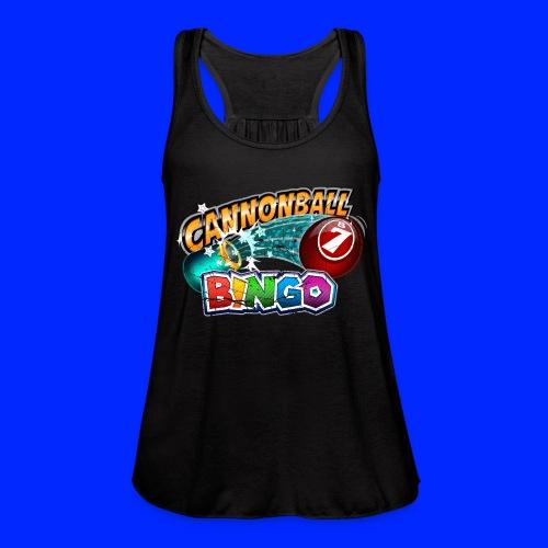 Vintage Cannonball Bingo Logo - Women's Flowy Tank Top by Bella