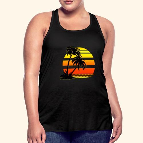Summer Surfer California Sunset - Women's Flowy Tank Top by Bella