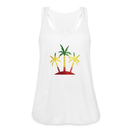 Palm Tree Reggae - Women's Flowy Tank Top by Bella