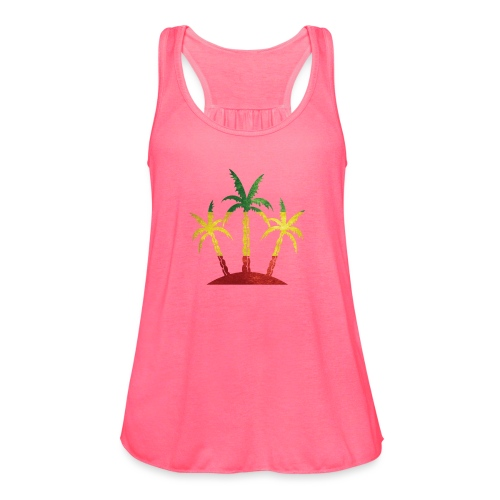 Palm Tree Reggae - Women's Flowy Tank Top by Bella