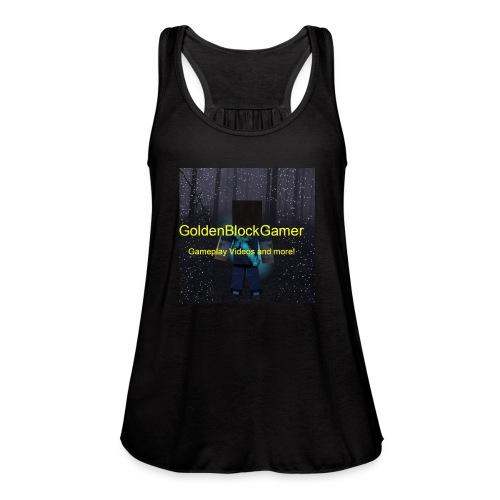 GoldenBlockGamer Tshirt - Women's Flowy Tank Top by Bella