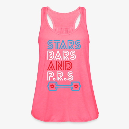 Stars, Bars And PRs - Women's Flowy Tank Top by Bella