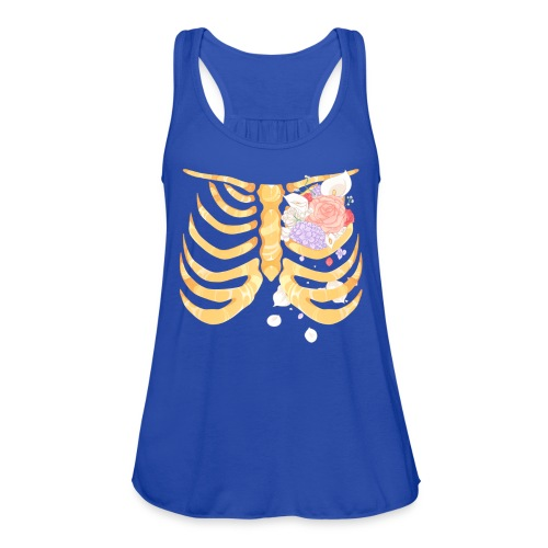 Pastel Goth Gold Rib Cage Shirt - Women's Flowy Tank Top by Bella