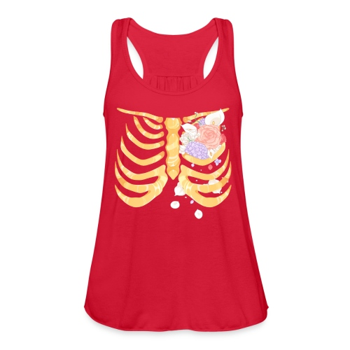 Pastel Goth Gold Rib Cage Shirt - Women's Flowy Tank Top by Bella