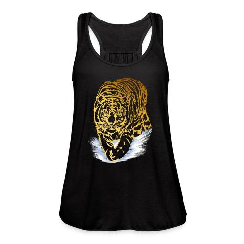 Golden Snow Tiger - Women's Flowy Tank Top by Bella