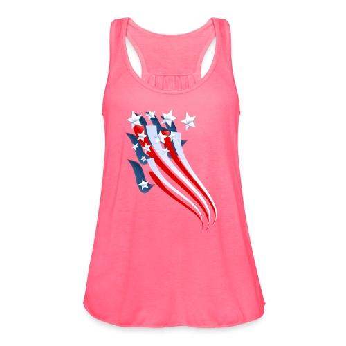 Sweeping American Flag - Women's Flowy Tank Top by Bella