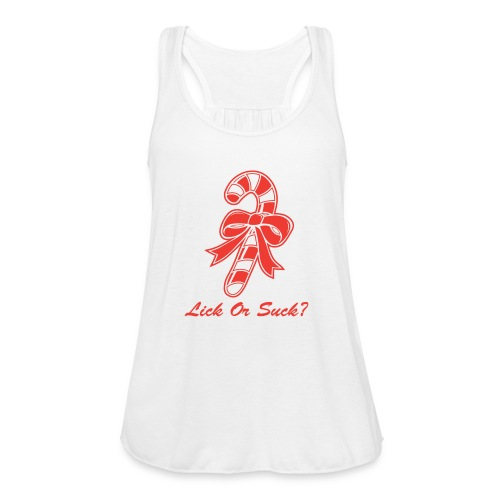 Lick Or Suck Candy Cane - Women's Flowy Tank Top by Bella