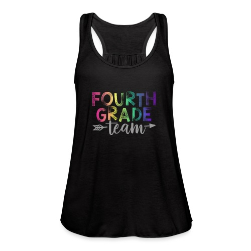 Fourth Grade Team Teacher T-Shirts Rainbow - Women's Flowy Tank Top by Bella