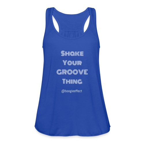 shake your groove thing white - Women's Flowy Tank Top by Bella