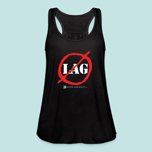 No Lag (white) - Women's Flowy Tank Top by Bella