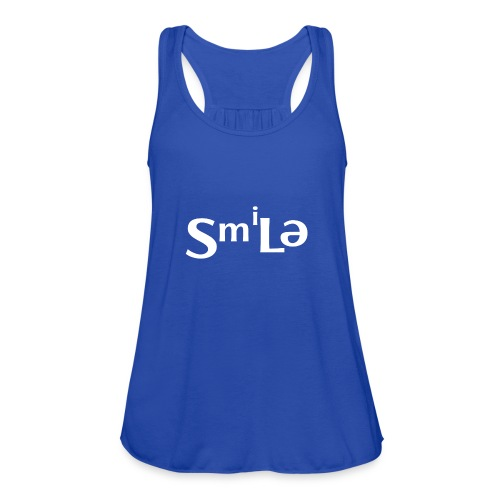 Smile Abstract Design - Women's Flowy Tank Top by Bella