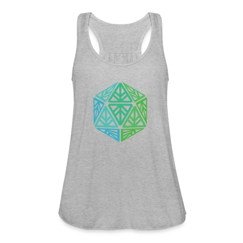 Green Leaf Geek Iconic Logo - Women's Flowy Tank Top by Bella
