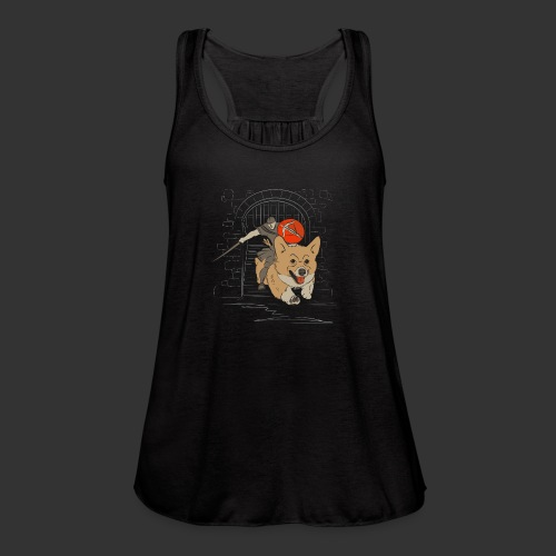A Corgi Knight charges into battle - Women's Flowy Tank Top by Bella