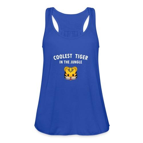 Coolest Tiger Hoodie - Women's Flowy Tank Top by Bella