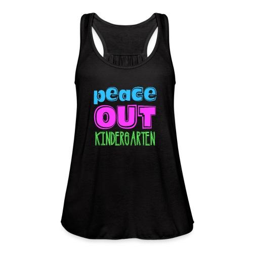 Kreative In Kinder Peace Out - Women's Flowy Tank Top by Bella