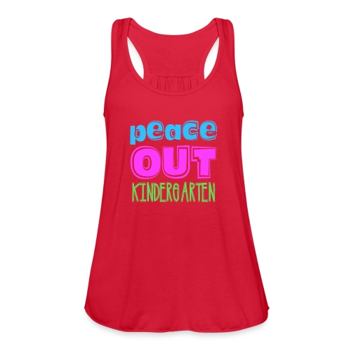 Kreative In Kinder Peace Out - Women's Flowy Tank Top by Bella