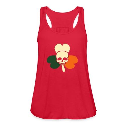 irish_skull_shamrock - Women's Flowy Tank Top by Bella