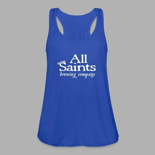 All Saints Logo White - Women's Flowy Tank Top by Bella